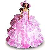 Creation® Robe rose Fashion Princess Party / Vêtements de soirée / Robe de poupée Barbie