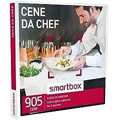 Idea Regalo - smartbox - Cofanetto Regalo - CENE da Chef - 905 cene Gourmet o tradizional
