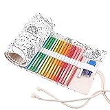 Abaría - Bolso para lápices, estuche enrollable para 48 lapices...