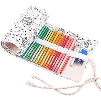 Hunpta Trousse /à crayons en toile /à rouler C