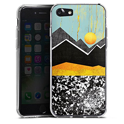 Apple iPhone X Silikon Hülle Case Schutzhülle Berge Himmel Sonne Silikon Case transparent