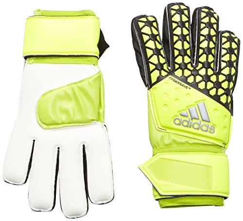 Adidas, Guanti da portiere Fingersave Replique, Giallo (Solar Yellow/Semi Solar Yellow/Black), 10,5