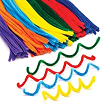 Rainbow Colours Pipe cleaners (Pack of 120)