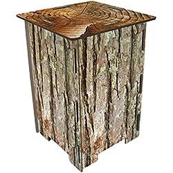 Tabouret Photo chaise table d'appoint Tronc d'arbre