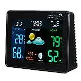 MYAMIA 4.5V Dc Funk-Wetterstation Uhr Digitale Temperaturanzeige Luftfeuchtigkeit Meter Indoor/Outdoor-Wwvb