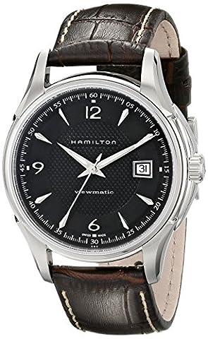 Hamilton Men's H32515535 Jazzmaster Analog Display Brown