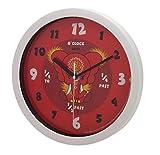 Pink Chillies - Elefante Dahong - Reloj de pared silencioso 'aprende las horas', 25 cm, color rojo