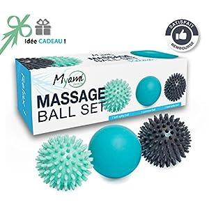 Relax Massageball Set 2 Igelblle Hart Weich 1 Lacrosse Massage Ball Massage Von Dem Rcken Nacken Und Faszien