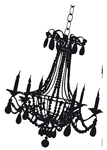Komar - Deco-Sticker KRONLEUCHTER - 50 x 70 cm -  Wandtattoo, Wandbild, Wandsticker, Wandaufkleber, Walltattoo, Vintage, Lampe, Kerzen, Nostalgie - 17042h