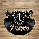 DecorArt Studio Avengers Disque Vinyle Horloge Murale Marvel Comics Spiderman Iron Man Infinity War Thor Faite à la Main Art Home Idée Cadeau Unique Him Her (30,5cm)