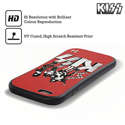 Ufficiale KISS I Was Made For Lovin You Sottotitoli Case Ibrida per Apple iPhone 6 / 6s Nothin To Lose