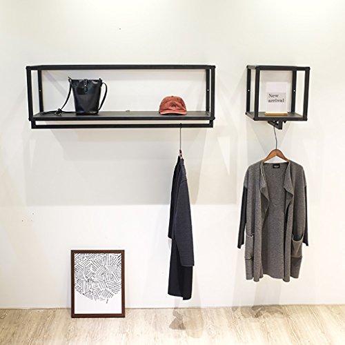 perchero de ropa Percheros Tienda de ropa Exhibición de ropa para hombres y mujeres Montado en la pared montado en la pared Estanterías colgantes Estanterías colgantes Estanterías Estanterías Estanterías perchero metal