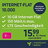 mobilcom-debitel Internet-Flat 10.000 im Telekom-Netz (15,99 EUR monatlich, 24 Monate Laufzeit, 10 GB Internet-Flat, LTE mit max. 150 MBit/s, EU-Roaming-Flat, Triple-Sim-Karten)
