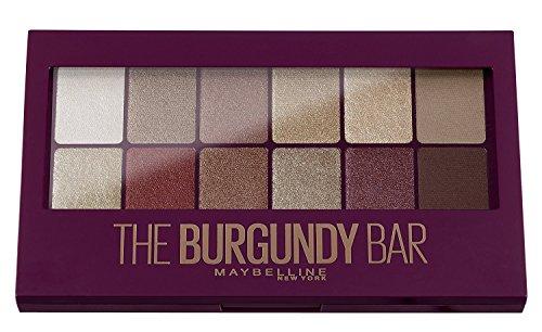 Maybelline The Burgundy Bar Lidschatten Palette, 12 satte, perfekt aufeinander abgestimmte Gold-,...