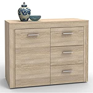 kommode sideboard highboard ray sonoma eiche 110 cm. Black Bedroom Furniture Sets. Home Design Ideas