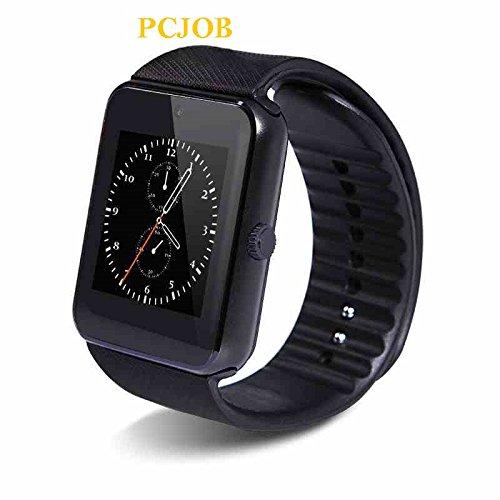 Willful Universal NFC Bluetooth Smart Watch Phone Sport Armband Fitness Uhr mit Slot für SIM Karte Kamera Musik-Player und video für Samsung SONY LG HUAWEI Sport Running Outdoor, Herren Jungen Kinder damen uni, schwarz Sony Outdoor Kamera