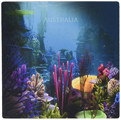 3drose LLC 20,3x 20,3x 0,6cm Maus Pad, Zimmerdekorations-Coral Australian Reef (MP 100947_ 1) -