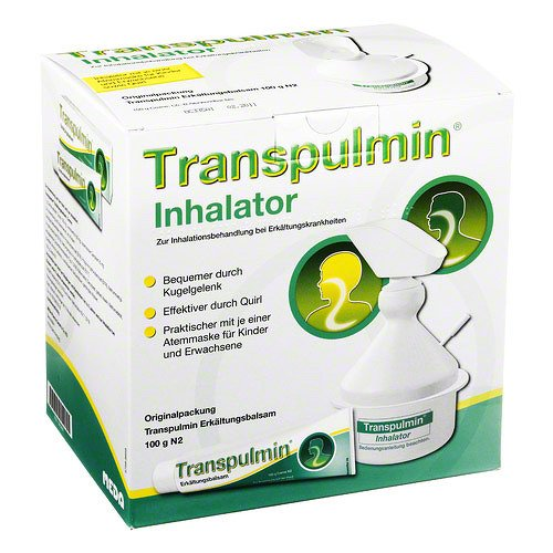Transpulmin Erkältungsbalsam mit Inhalator, 100 g
