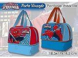 Spiderman Portameriendas avec Base 20x 18.5x 14.5cm, synthétique, Multicolore, 16X 6X 11cm