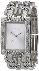 Guess Heavy Metal W95088L1 - Reloj de mujer de cuarzo color plata de Guess