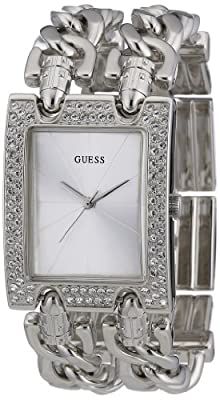 Guess Heavy Metal W95088L1 de cuarzo color plata