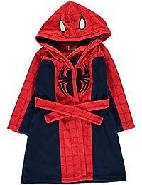 Spiderman Childrens Hooded Robe Dressing Gown Nightwear Kids by Marvel Comics