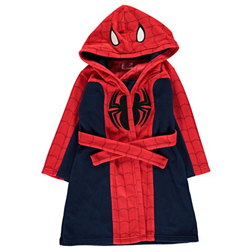 Spiderman - Peignoir de bain - Garçon - Rouge - 5-6 ans