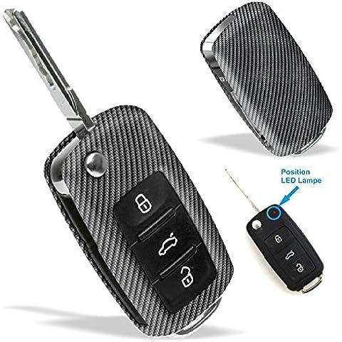 La cobertura de la llave de SEAT VW SKODA con Diseño Carbono