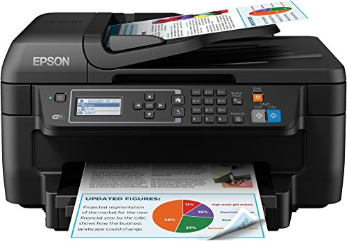 Epson Workforce WF-2750DWF Stampante a Getto D`Inchiostro, Multifunzione (Stampante, Scanner, Fotocopiatrice, Fax), Colore Nero, con Amazon Dash Replenishment Ready