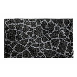 SCHÖNER WOHNEN-Kollektion, Mauritius, Badteppich, Badematte, Badvorleger, Design Steine - anthrazit, Oeko-Tex 100 zertifiziert, 60 x 60 cm