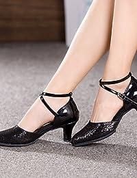 shangyi No personalizable–Cuña–Piel sintética–Estándar de danza–Zapatillas para hombre blanco blanco Talla:us7.5 / eu39 / uk6.5 / cn40