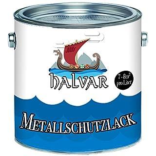 Halvar Metallschutzfarbe skandinavischer Metallschutz-lackbesonders robuster KunstharzlackStark Wetterbeständig und ein perfekter Langzeitschutz für Holz und Metall (Schwarz (RAL 9005))