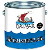 Halvar Metallschutzfarbe skandinavischer Metallschutz-lackbesonders robuster KunstharzlackStark Wetterbeständig und ein perfekter Langzeitschutz für Holz und Metall (Weiß (RAL 9010))