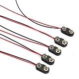 5pcs schwarz Hartkunststoffgehäuse 1 Typ Draht 9V Batterie-Clip-Anschluss