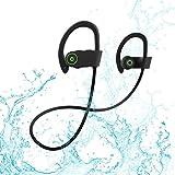 Rotuyes casque Bluetooth, Meilleur sans fil Sports Écouteurs W/Mic étanche Ipx7HD stéréo Antisueur Earbuds pour salle de sport Course à Pied entraînement batterie 8heures casques antibruit