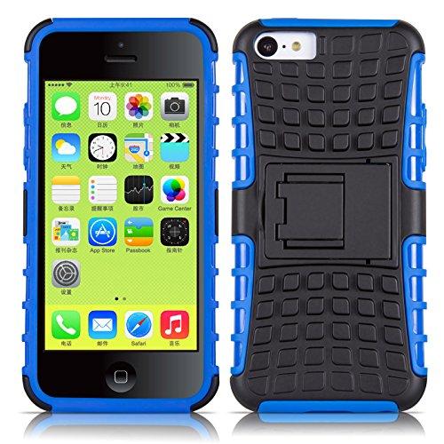 Coque iPhone 5C Coque incassable | JammyLizard | [ ALLIGATOR ] Coque rigide back cover incassable anti choc coque pour iPhone 5C, bleu