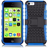 iPhone 5C Hülle, JAMMYLIZARD [ ALLIGATOR ] Doppelschutz Outdoor-Hülle für iPhone 5C, BLAU