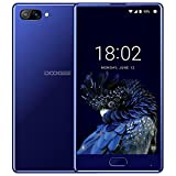 DOOGEE MIX Smartphone Libre, 4G Teléfonos Móviles Libres sin Bloqueo de SIM Baratos - Android 7.0 - MediaTek Helio P25 2.5GHz - 5.5 Pulgadas AMOLED HD Pantalla - 4GB RAM + 64GB ROM - 8MP+16MP Cámara - Batería de 5V 2A, 3580mAh - Huella Dactilar - (Azul)
