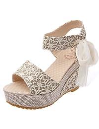 Amazon.es  Cordones - Sandalias de vestir   Zapatos para mujer ... 73d63d919a0e