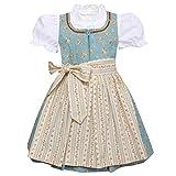 Berwin & Wolff Mädchen Trachten-Mode Kinderdirndl Franzl in Türkis traditionell, Farbe:Türkis, Größe:128