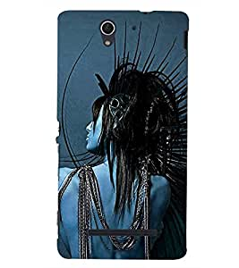 printtech Crazy Girl Back Case Cover for Sony Xperia C3 Dual D2502::Sony Xperia C3 D2533