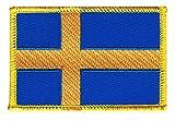 Flaggen Aufnäher Schweden Fahne Patch + gratis Aufkleber,