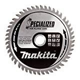 Makita b-09298165x 20mm Scie Lame pour scie circulaire plongeante spécialisés avec 48dents–Rouge/Argent