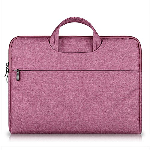 GADIEMENSS Water-resistant Laptop Sleeve Case Bag Portable Computer handbag For Apple Macbook Air Pro and other Notebook 15.6 inches Rose Red