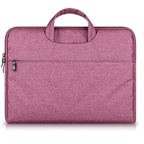G7Explorer Water-resistant Laptop Sleeve Case Bag Portable Computer handbag For Apple Macbook Air Pro and other Notebook 11.6 inches Rose Red - Gun Bag Neoprene