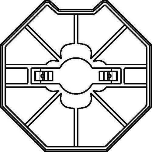 Preisvergleich Produktbild Rademacher Adapter-Mitnehmerset für Achtkantstahlwelle SW70, Medium Intelligente Rohrmotoren, 93700738