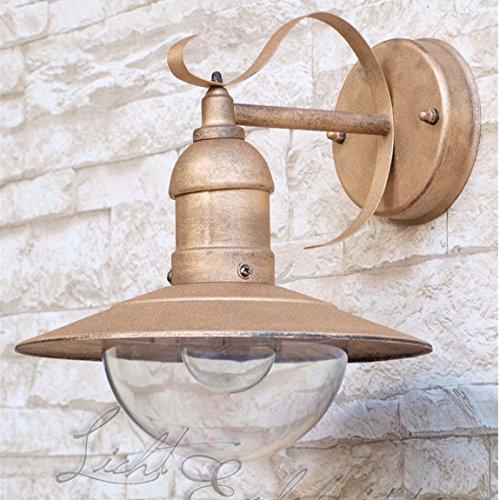 Superbe applique extérieure oslo 8272 protge lampe dans les tons de marron-doré