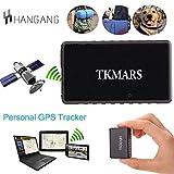 Mini GPS Tracker, tkmars GPS pour Voiture Traceur GPS en Temps réel Anti Loss Espion avec App Gratuite Enfants 1000 mAh Long Standby 15 Jours (tk902)