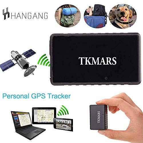 Hangang Mini GPS Tracker, Tkmars GPS for Car Locator Real-time Anti Loss Spy with Free App GPS Children 1000 mAh Long Standby 15 Days (tk902)