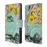 Officiel Amanda Hilburn Camion De Tournesol Printemps Floral Étui Coque De Livre en Cuir pour Sony Xperia Z/C6603/C6602
